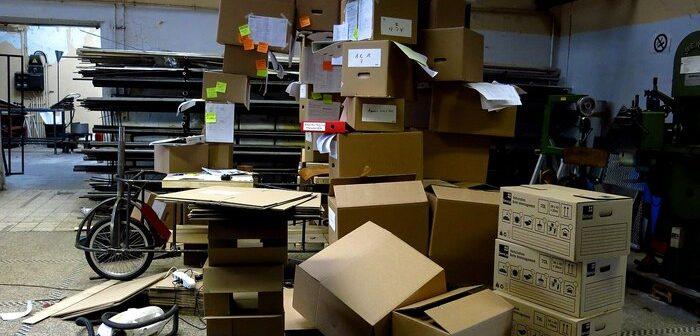 cartons pour organiser débarras
